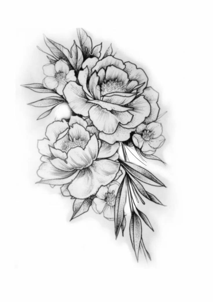 Картинка цветка тату