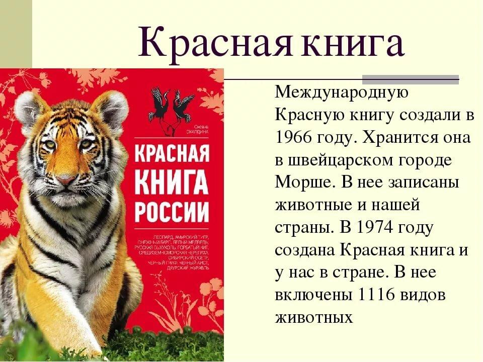 Реферат о красной книге с картинками