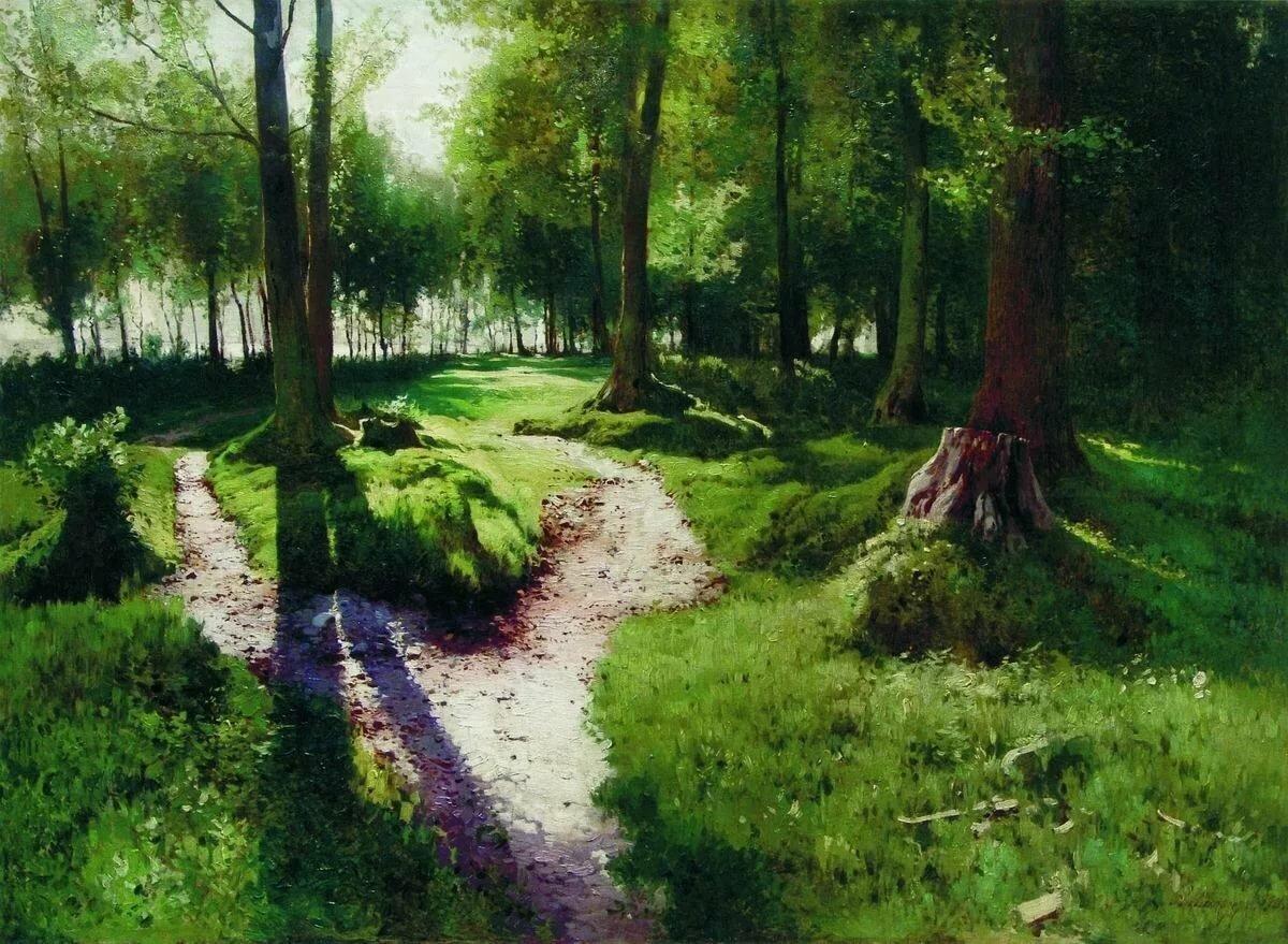 таком картина ручей в лесу шильдера минтая