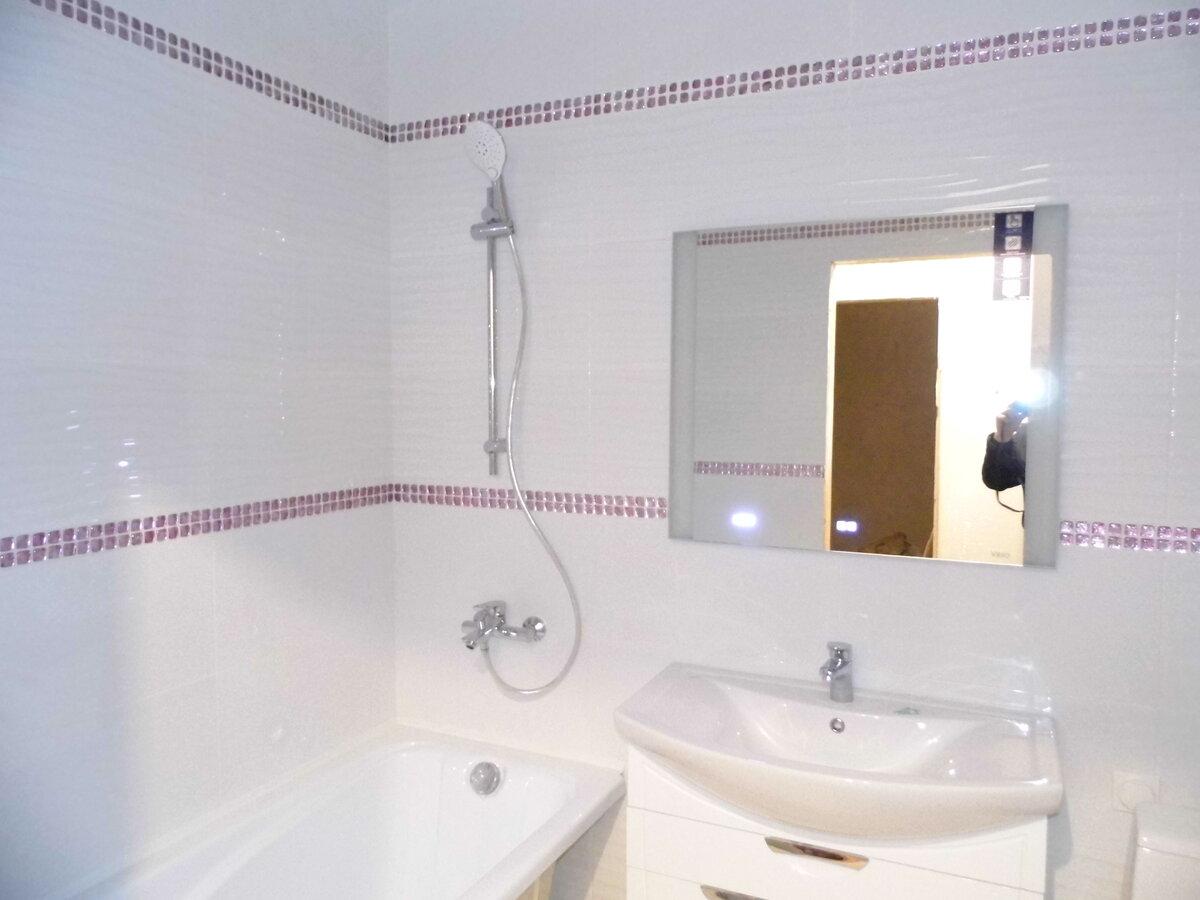 Ремонт ванной комнаты под ключ пример работы Красноярск.