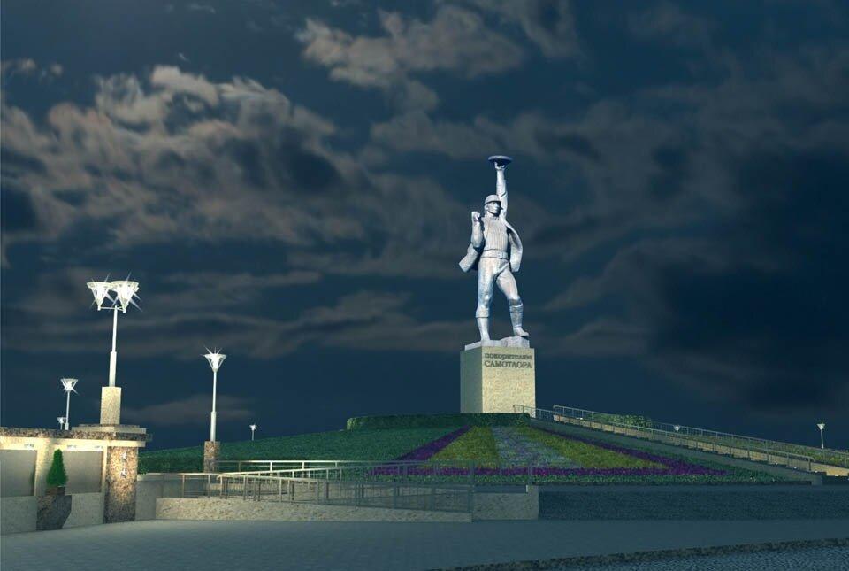 памятник покорителям самотлора картинки