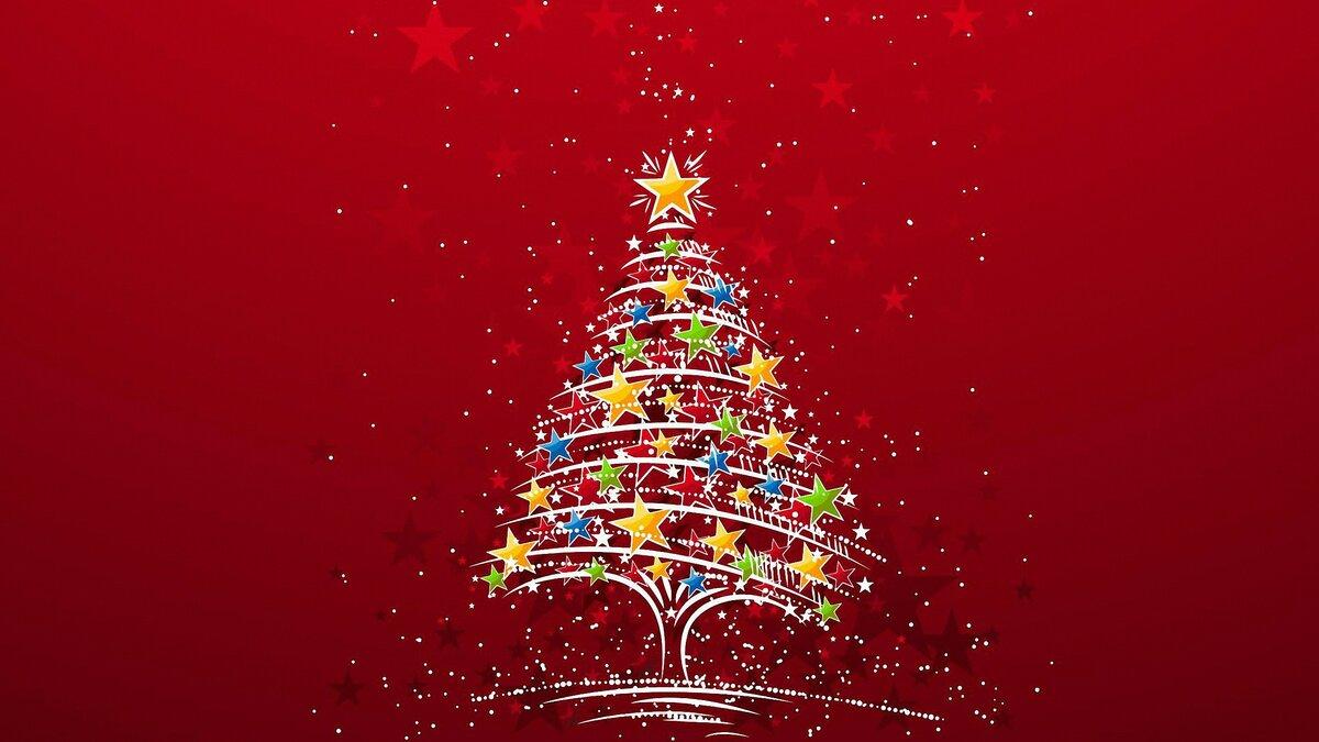 Новым годом, открытки новым годом елка