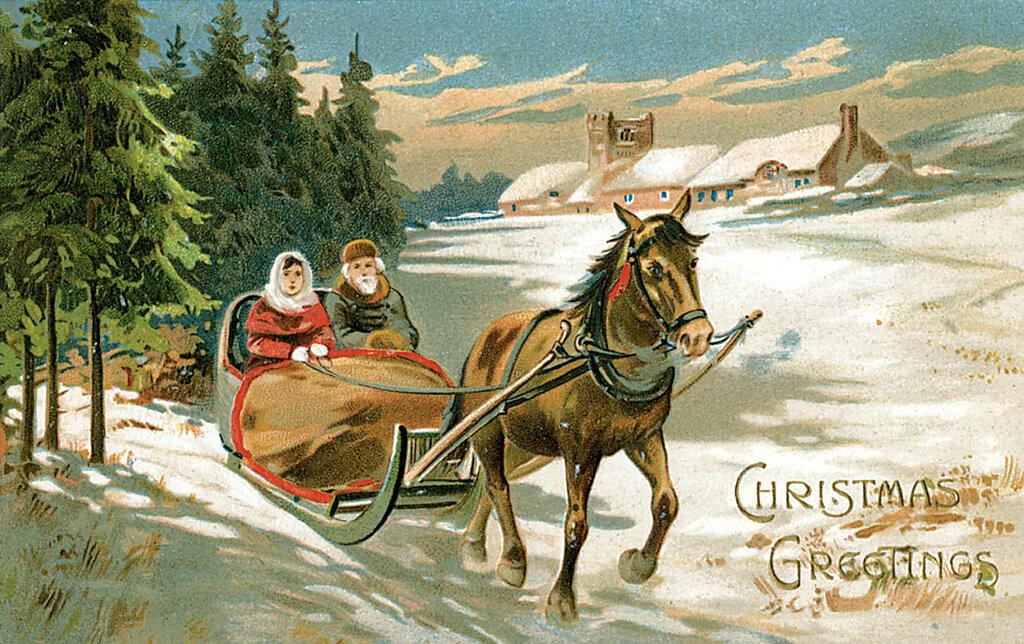 Австрийская открытка с новым годом