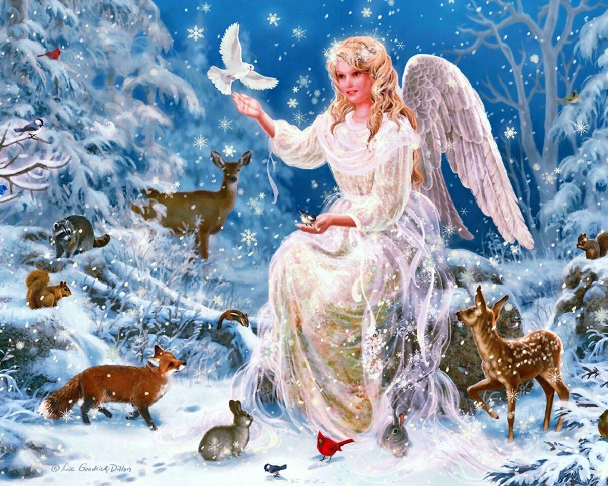 рождественская добрая картинка