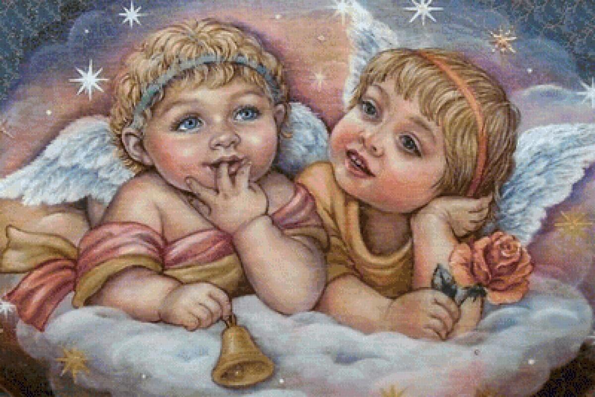 картинки с двумя ангелами детьми