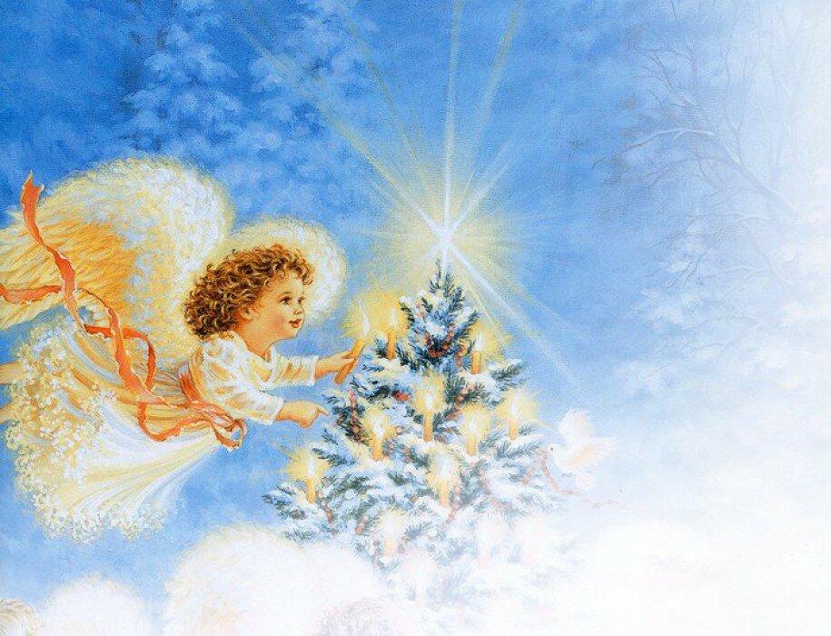 картинки зима ангелочки них готовятся очень