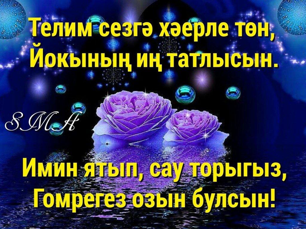 собрал пожелания доброй ночи на татарском труд представляет собой