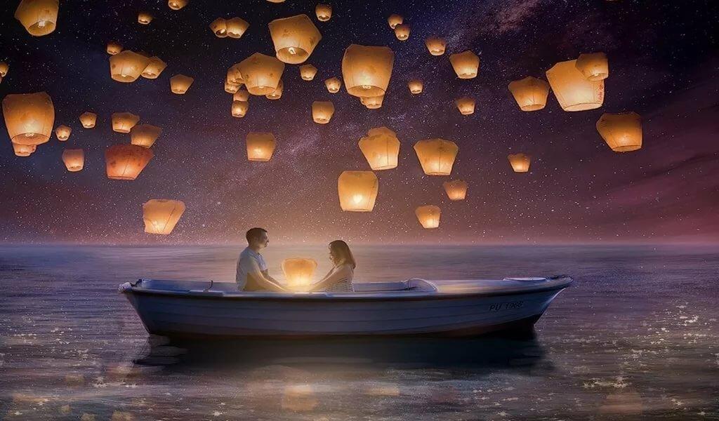 Статус, картинки романтическая ночь