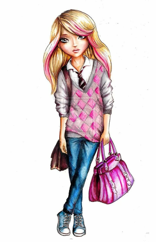 Картинки для девочек современные и модные