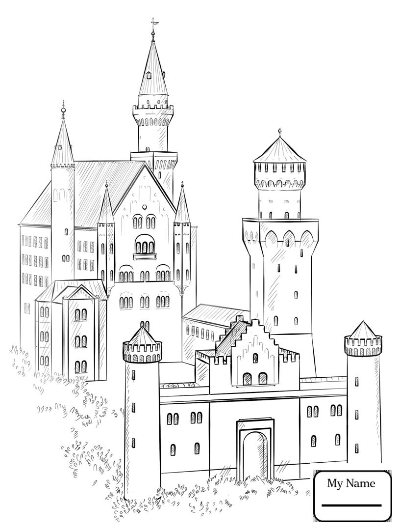 Нарисовать замок карандашом в картинках застройщиков