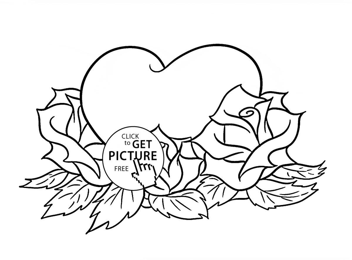 Раскраски с розами, бабушки