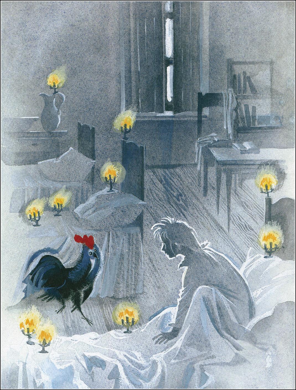 Картинка для сказки черная курица или подземные жители