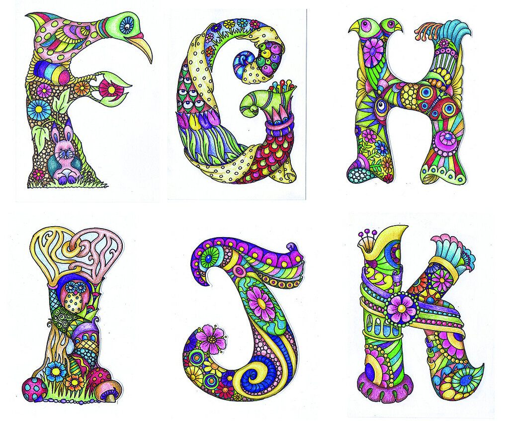 декоративный русский алфавит картинки такой