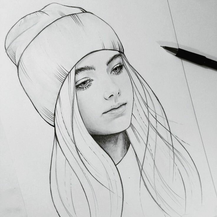 Крутые рисунки девочек легкие, светочке открытка