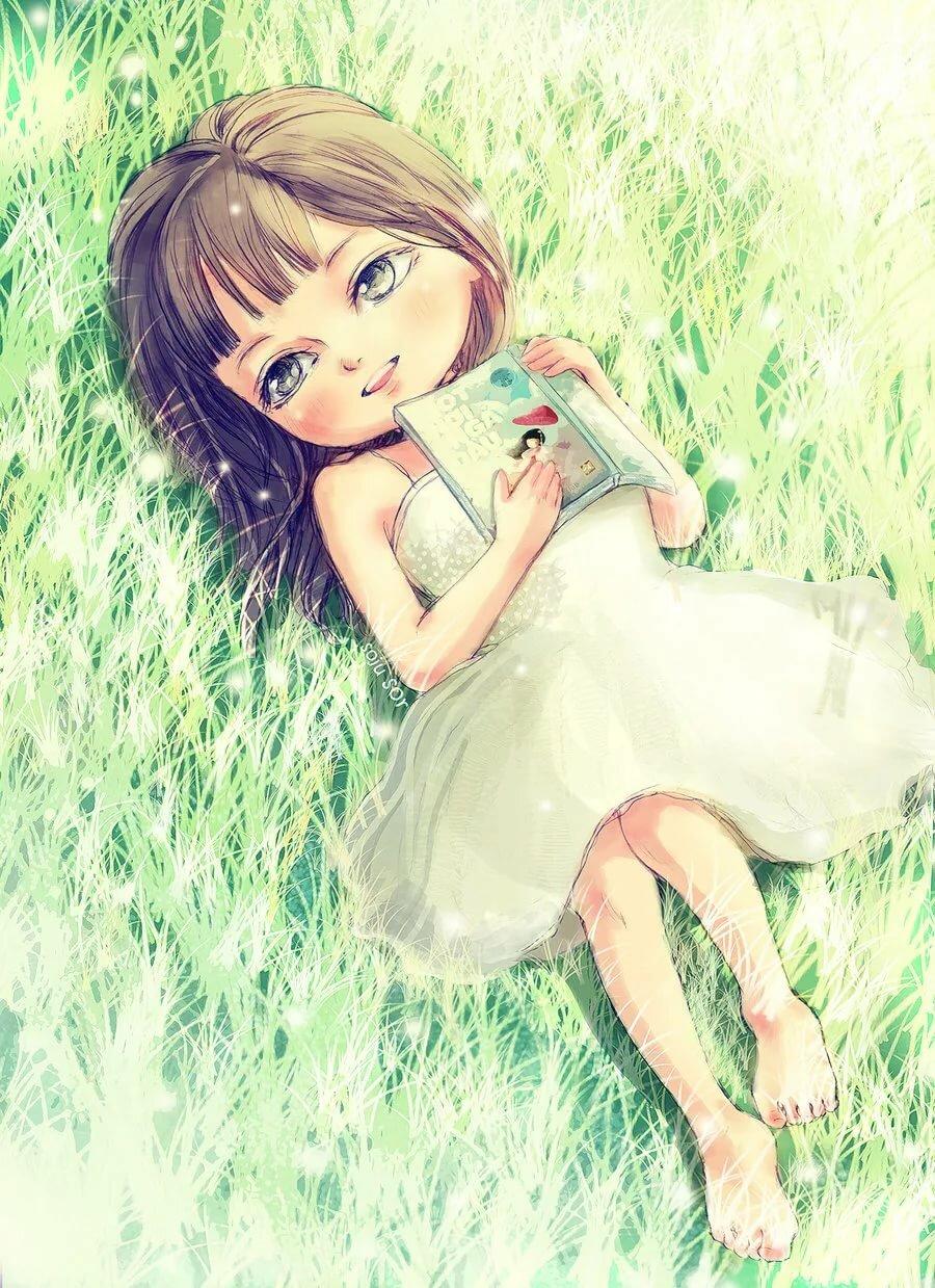 Милые картинки девочка мультяшная