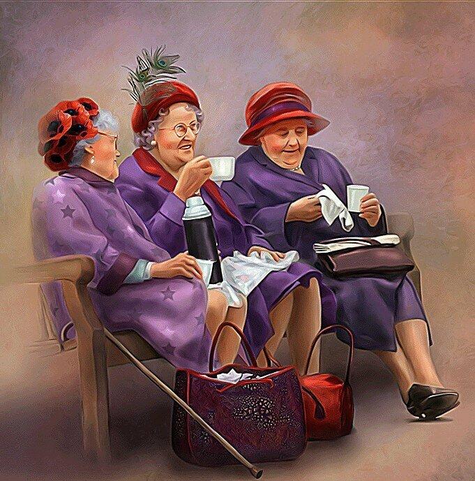 Картинки с тремя старушками прикольные, про прапорщика картинках