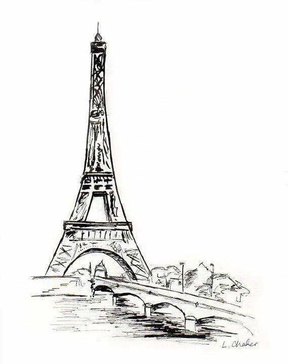 множество эйфелева башня картинки нарисованы карандашом чаще