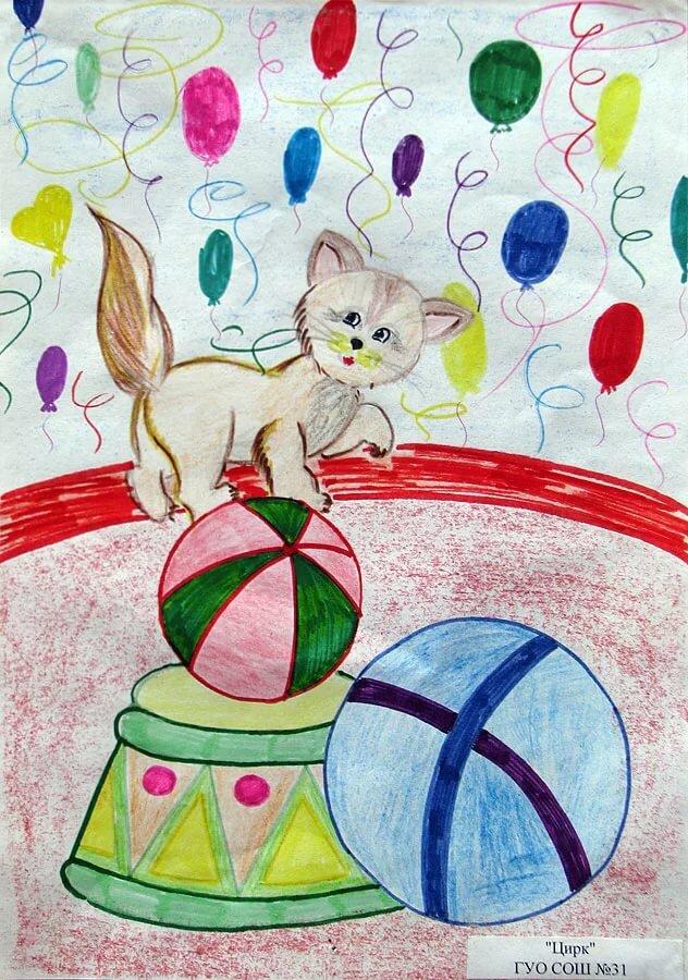 Рисунки цирка для конкурса