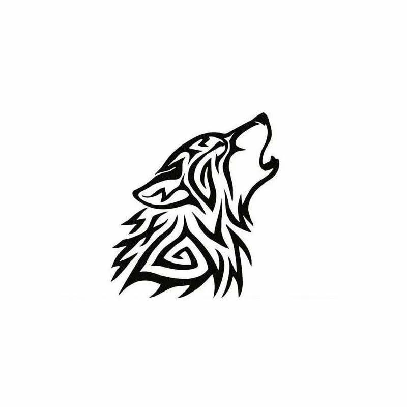 Картинки тату волка один
