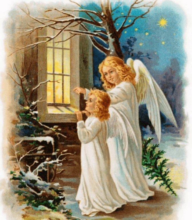 Для, открытки теме рождество