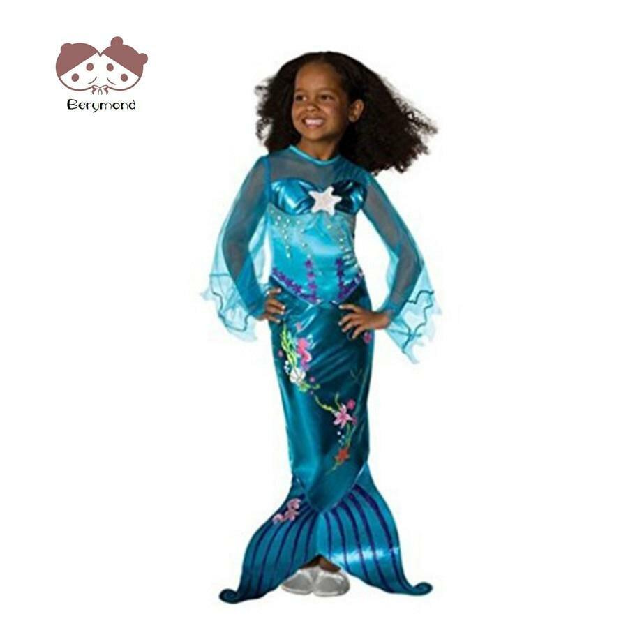 783ca26d422 ... Детские Обувь для девочек Русалка платье принцессы Дети Хэллоуин Русалочка  Ариэль Костюмы для косплея для детей