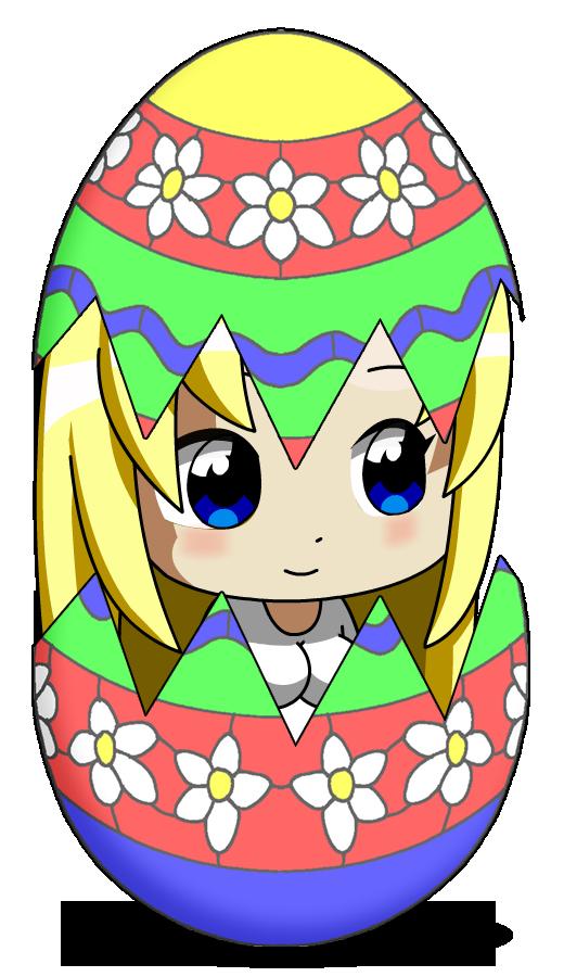 Картинка с пасхой аниме