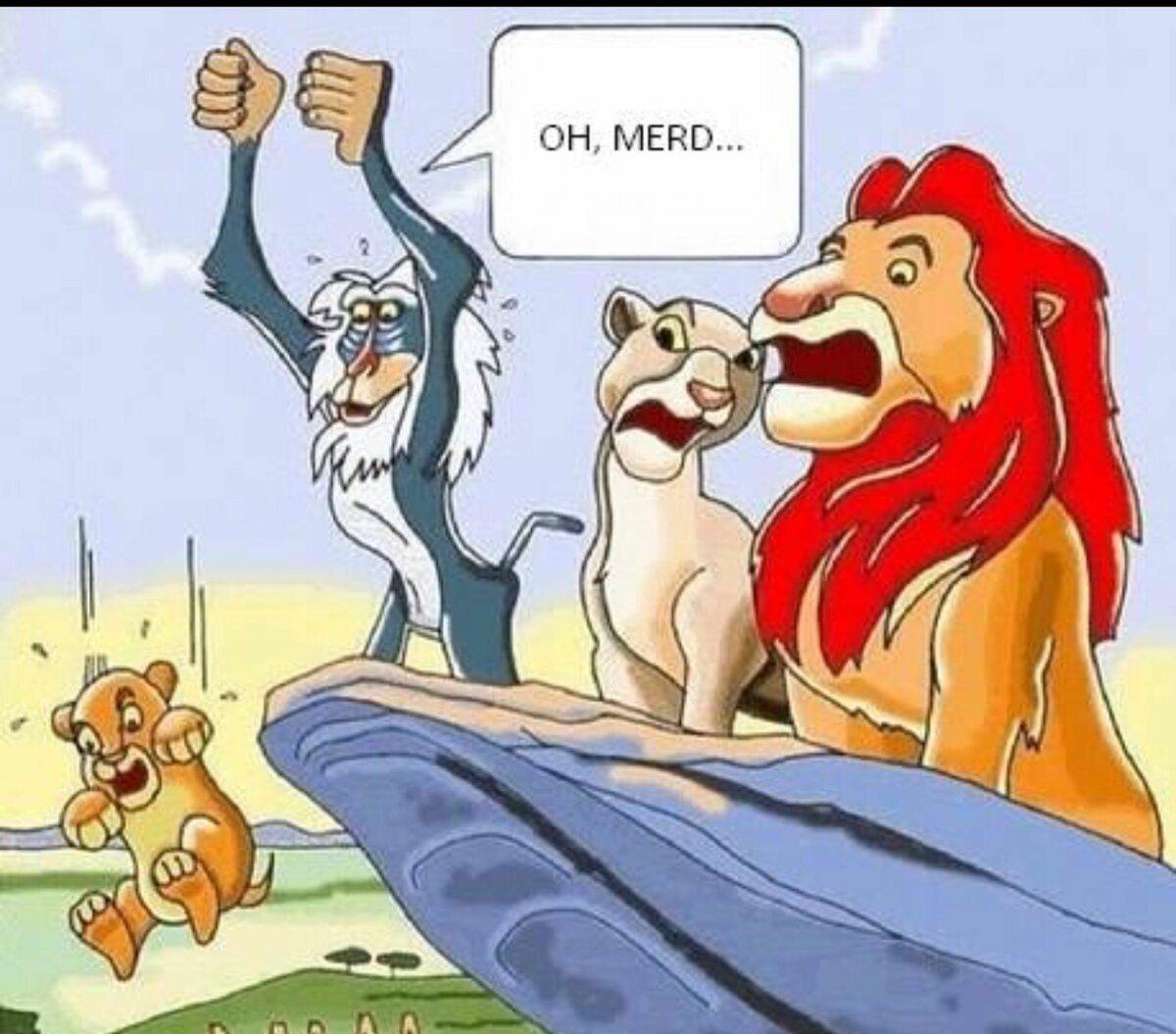 Картинки король лев смешные