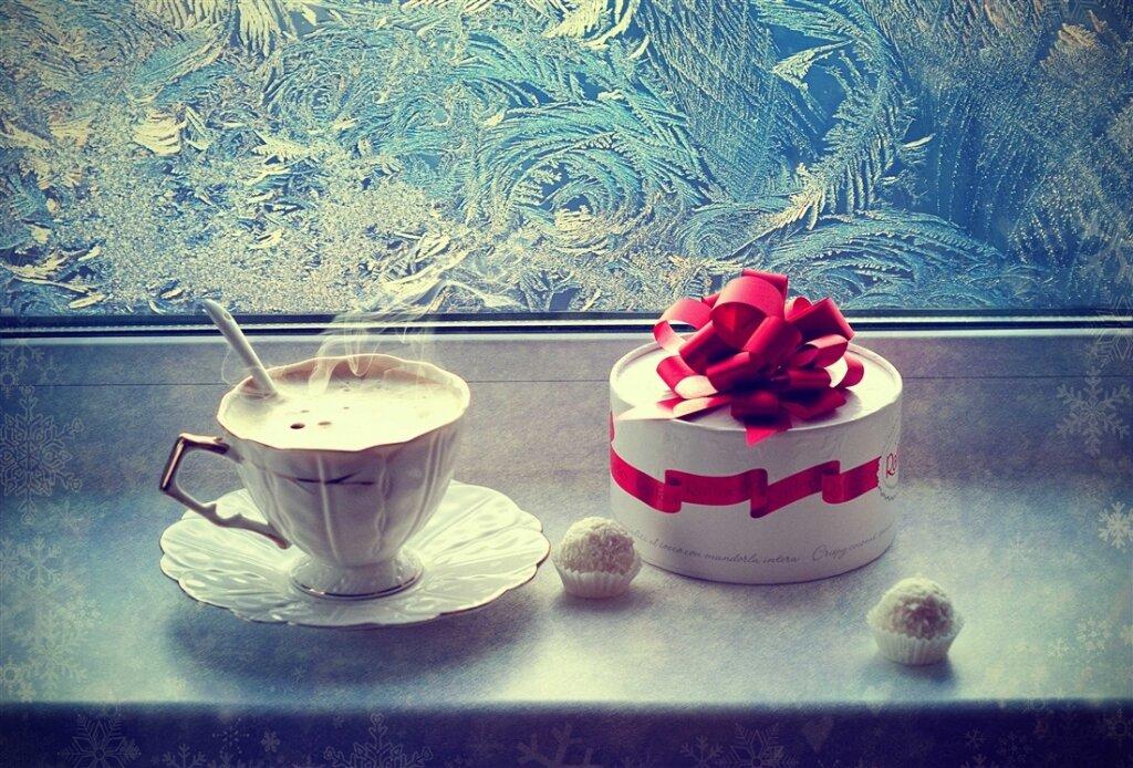 Красивые зимние фото с добрым утром принимает