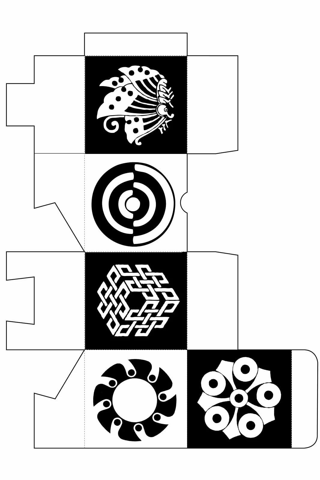 Картинки для черно белых кубиков для