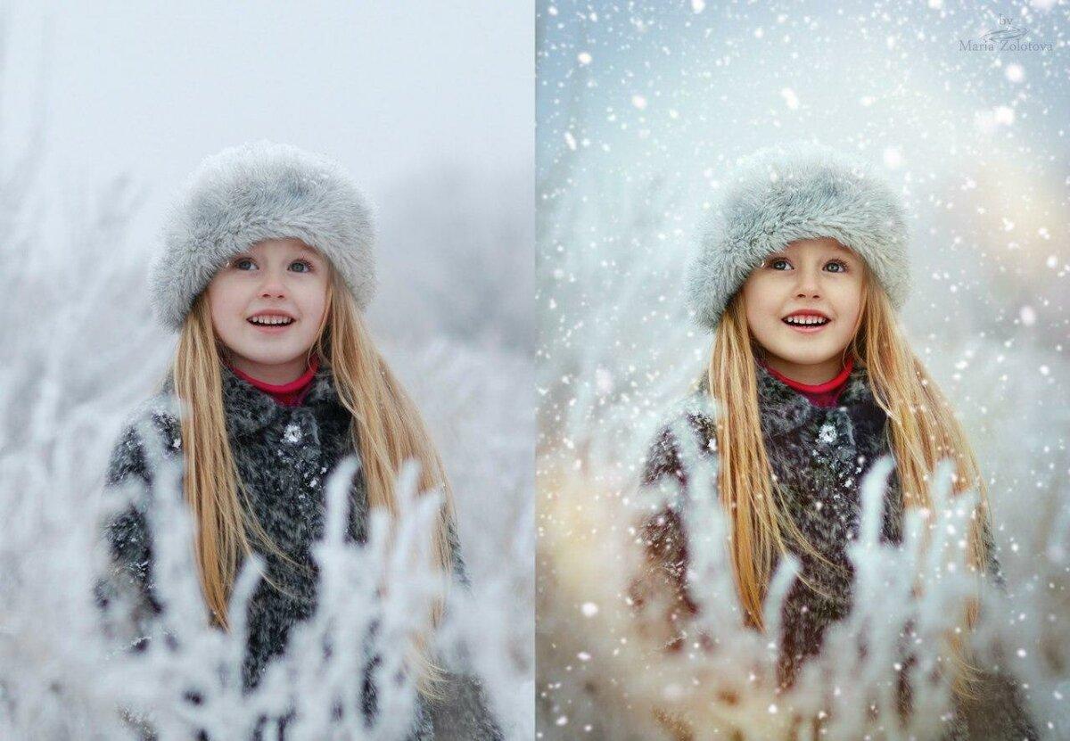 Обработка зимнего фото