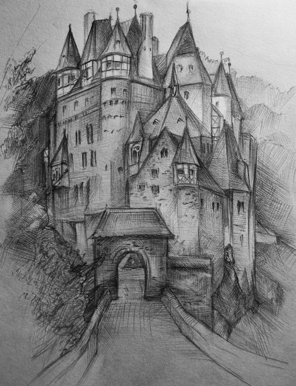 Нарисовать замок карандашом в картинках повлекло собой