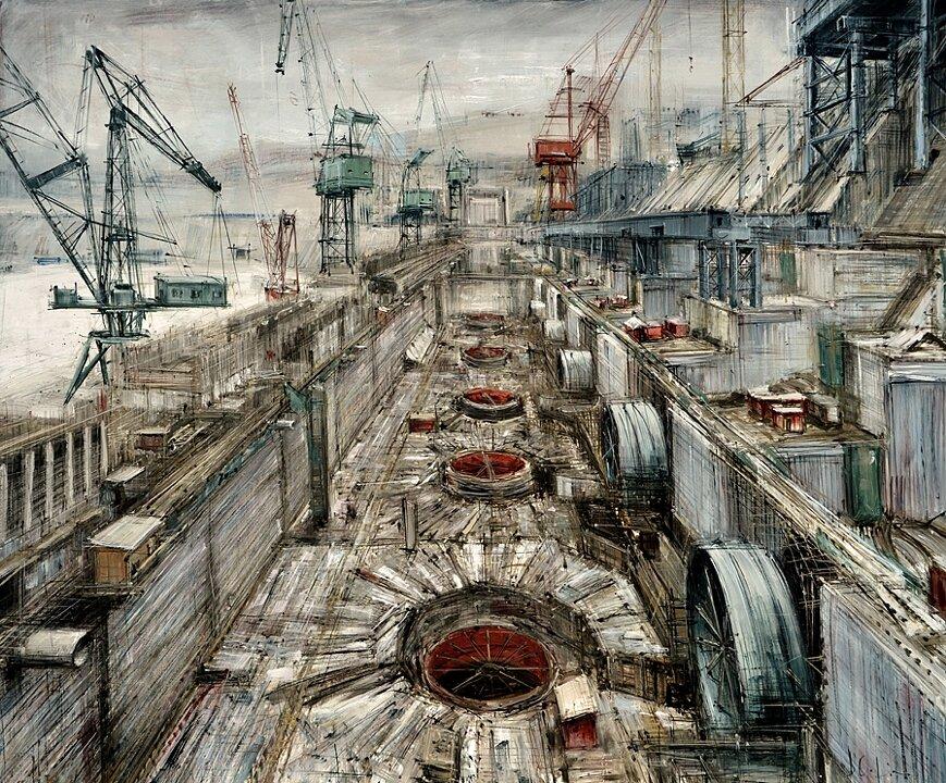 северном полушарии индустриальный пейзаж картинки художников сложность
