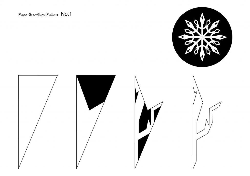 Рисунки на снежинках для вырезания
