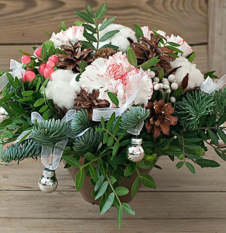 Флористика букеты новогодние, невесте