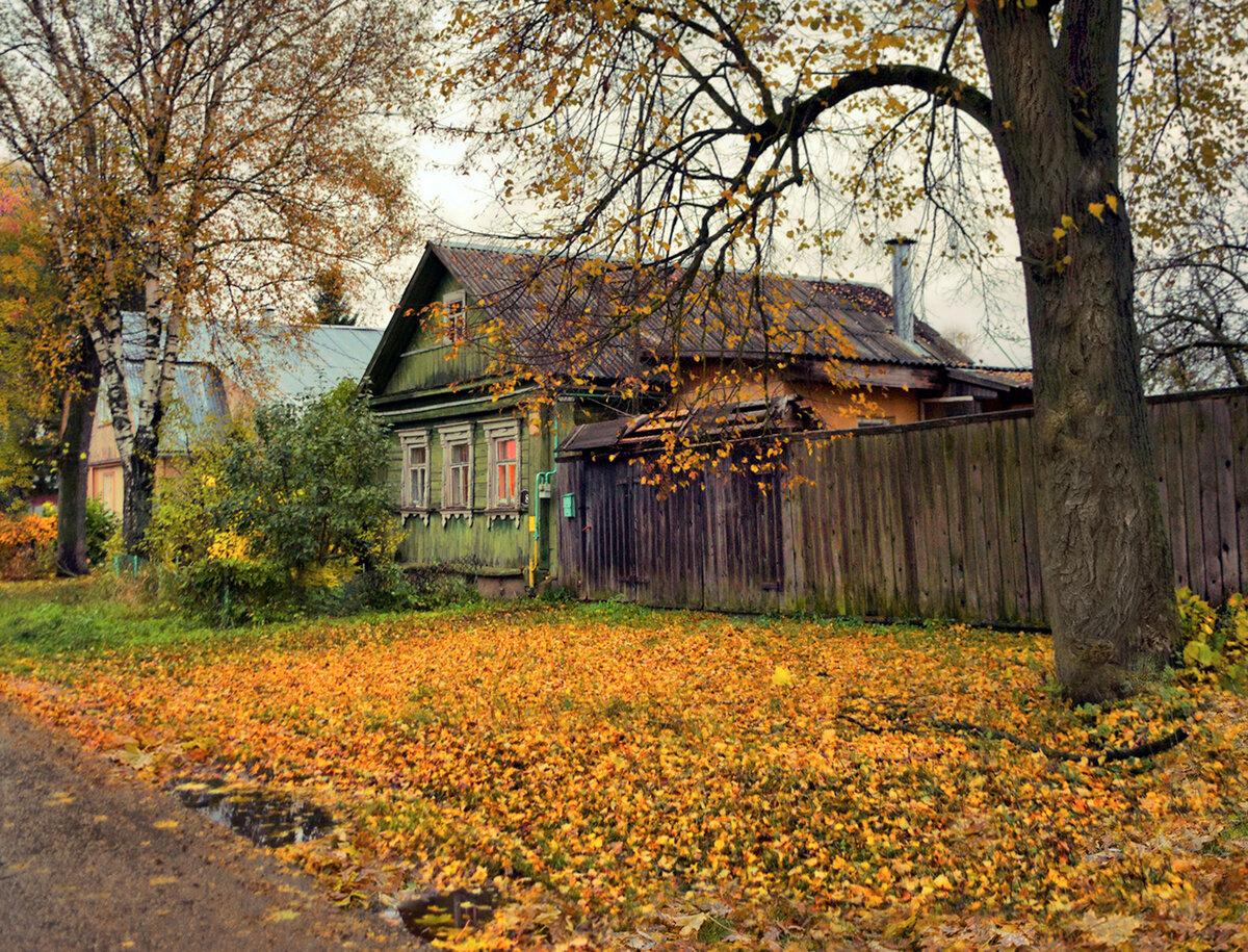 многочисленных фотографии дождливая осень в деревне есть какие интересные