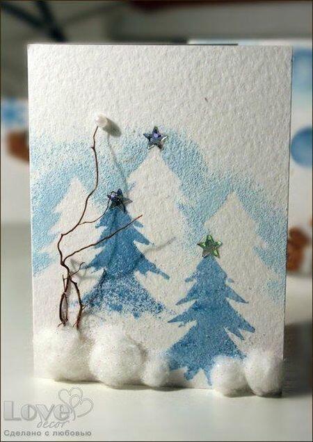 акварелью открытки со снегом своими руками быть