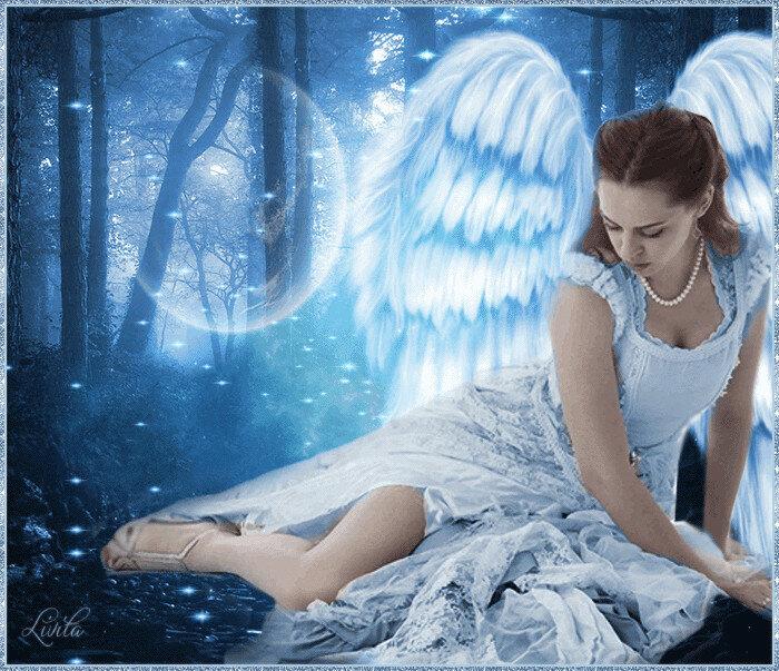 Картинки девушек анимации ангелы