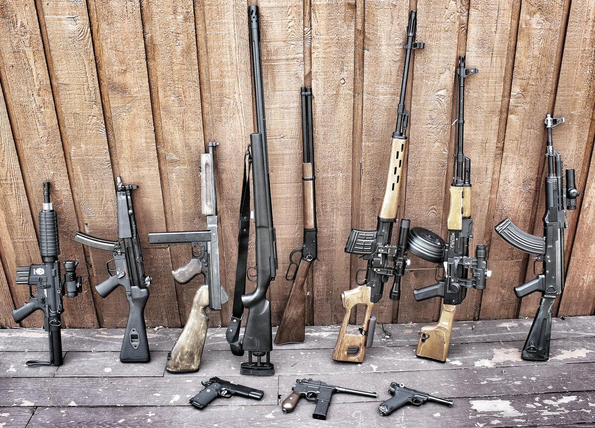 Картинка разное оружие
