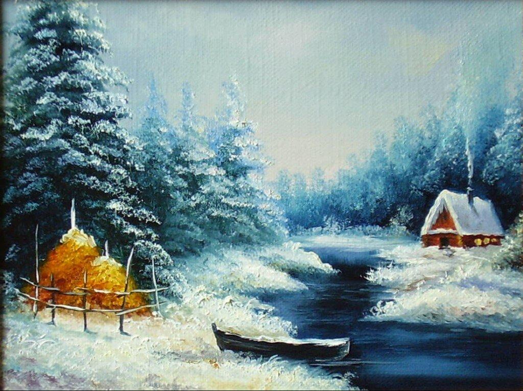 Красивый зимний пейзаж картинки анимация, днем рождения