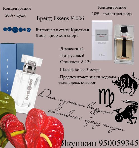 Картинка описание картинки эссенс парфюм запах держится