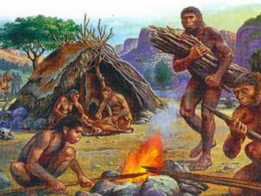 Картинка древних людей у костра