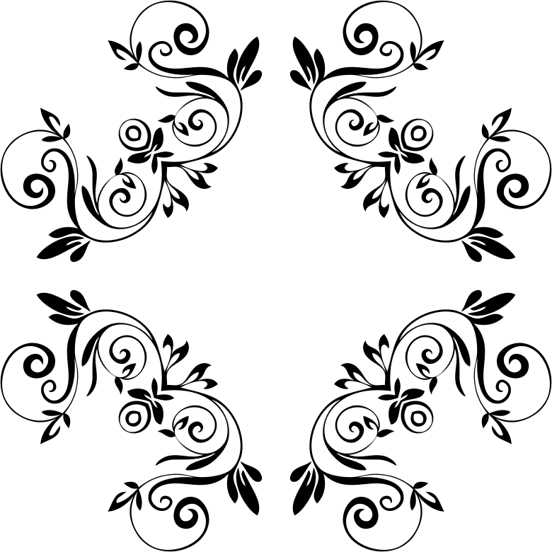 Картинка с вензелями на белом фоне, рисунки маме