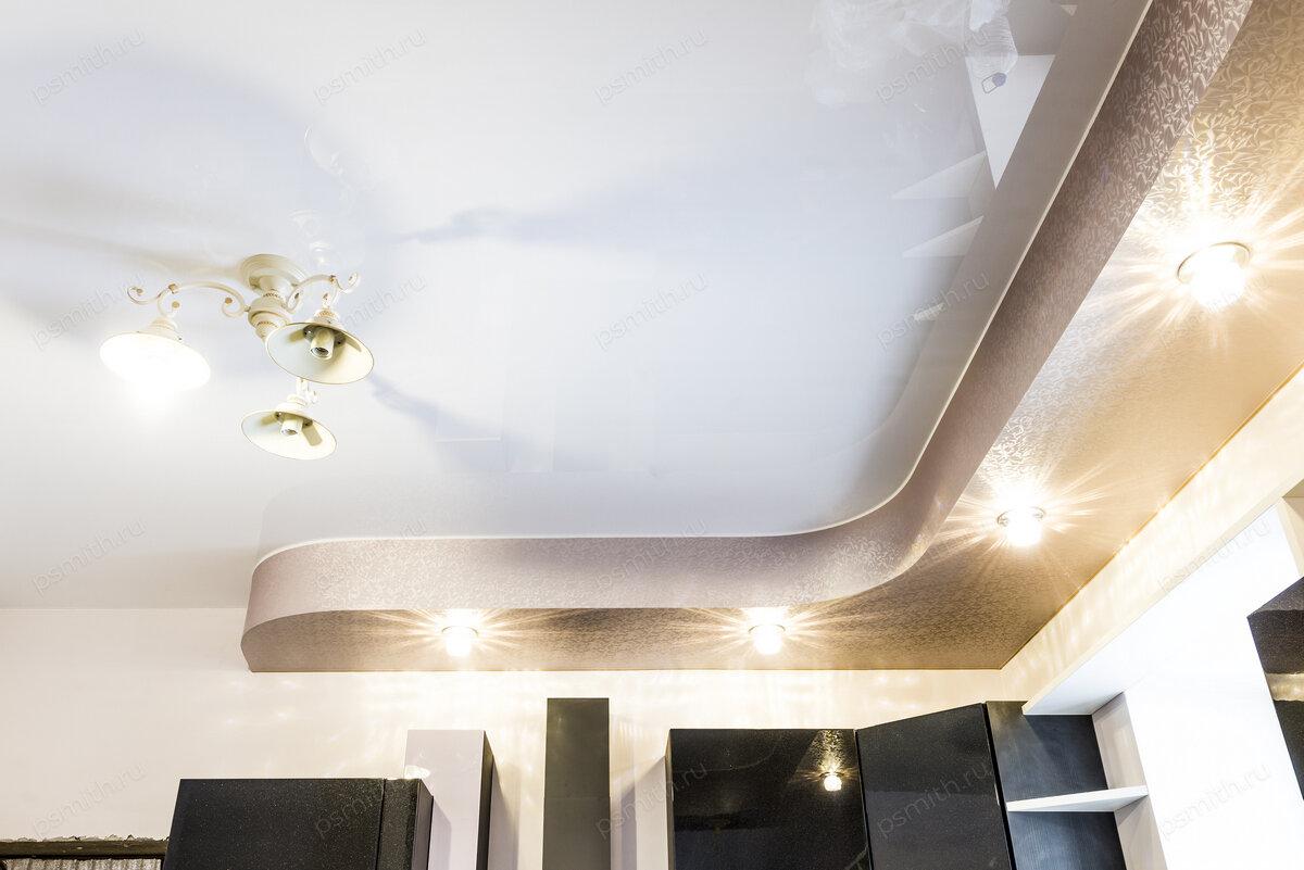 Глянцевая краска для потолка из гипсокартона фото декоративно-лиственной