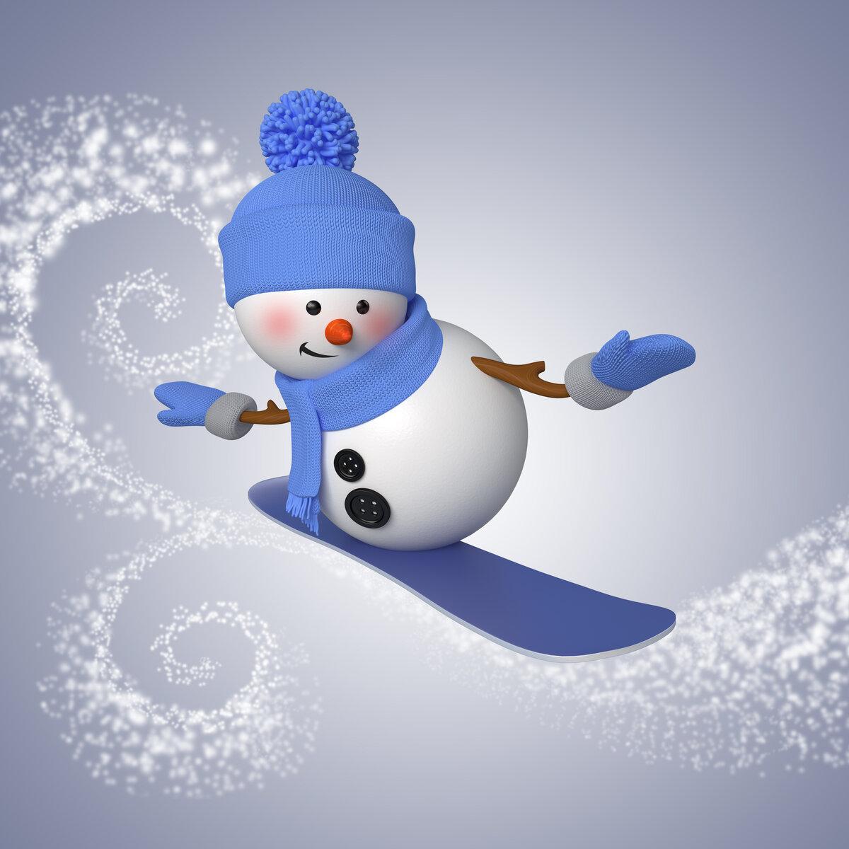 Картинка с снеговиком
