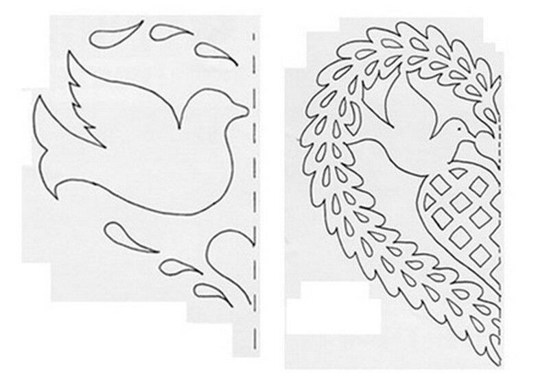 День рождения, голубь ажурный из бумаги шаблоны для вырезания