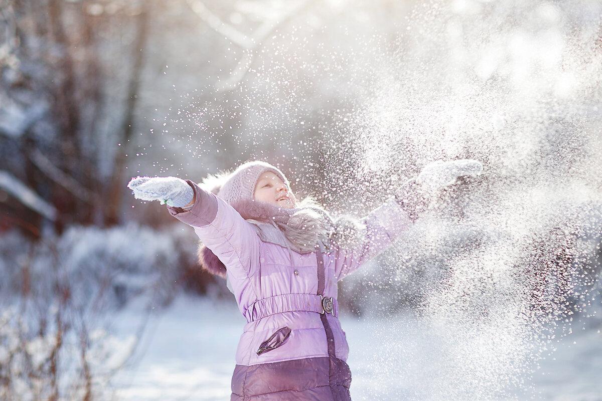 идеи для фотосессии с первым снегом