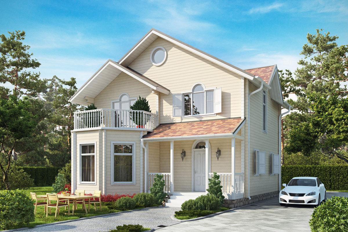 Картинка дом с балконом