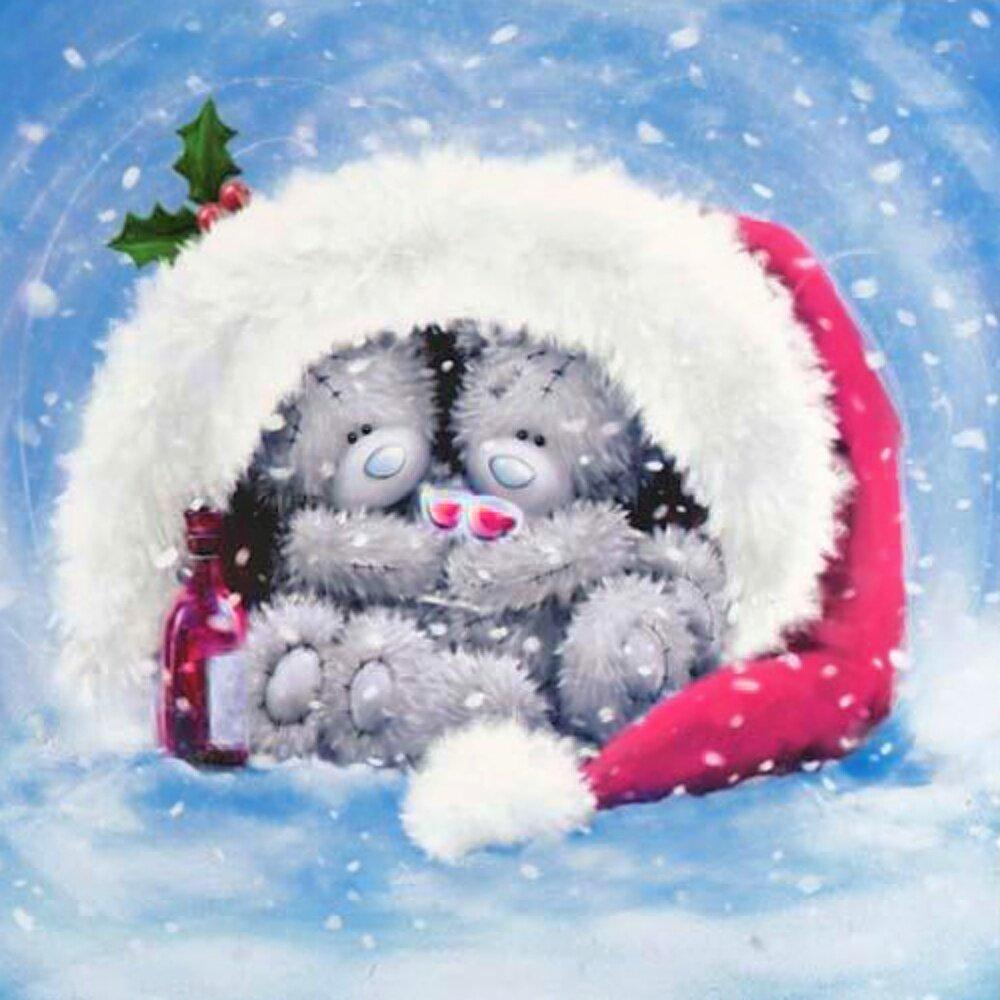 Прощенным воскресеньем, открытка с новым годом с мишками