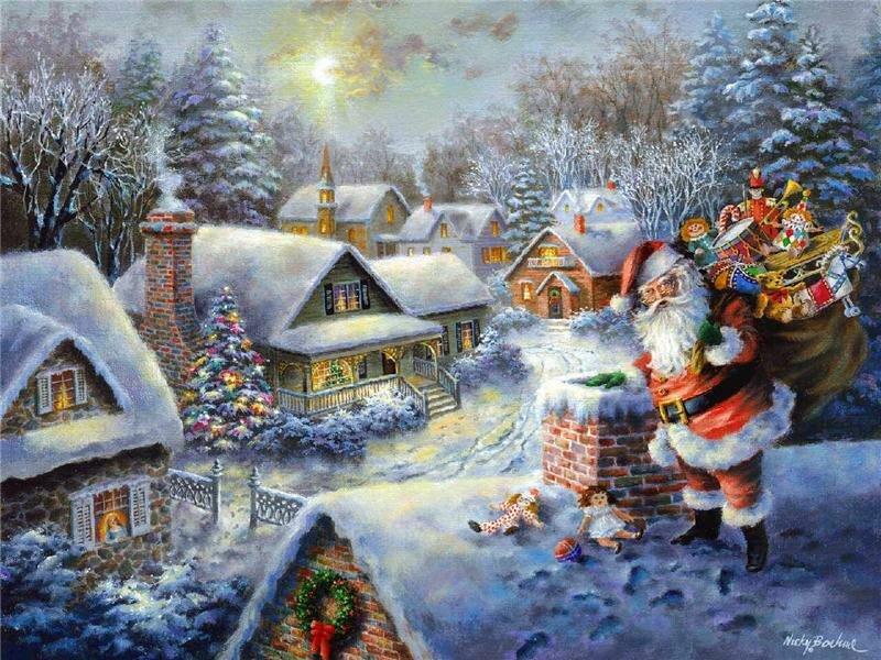 Поздравления открытки, открытки с зимними сказками