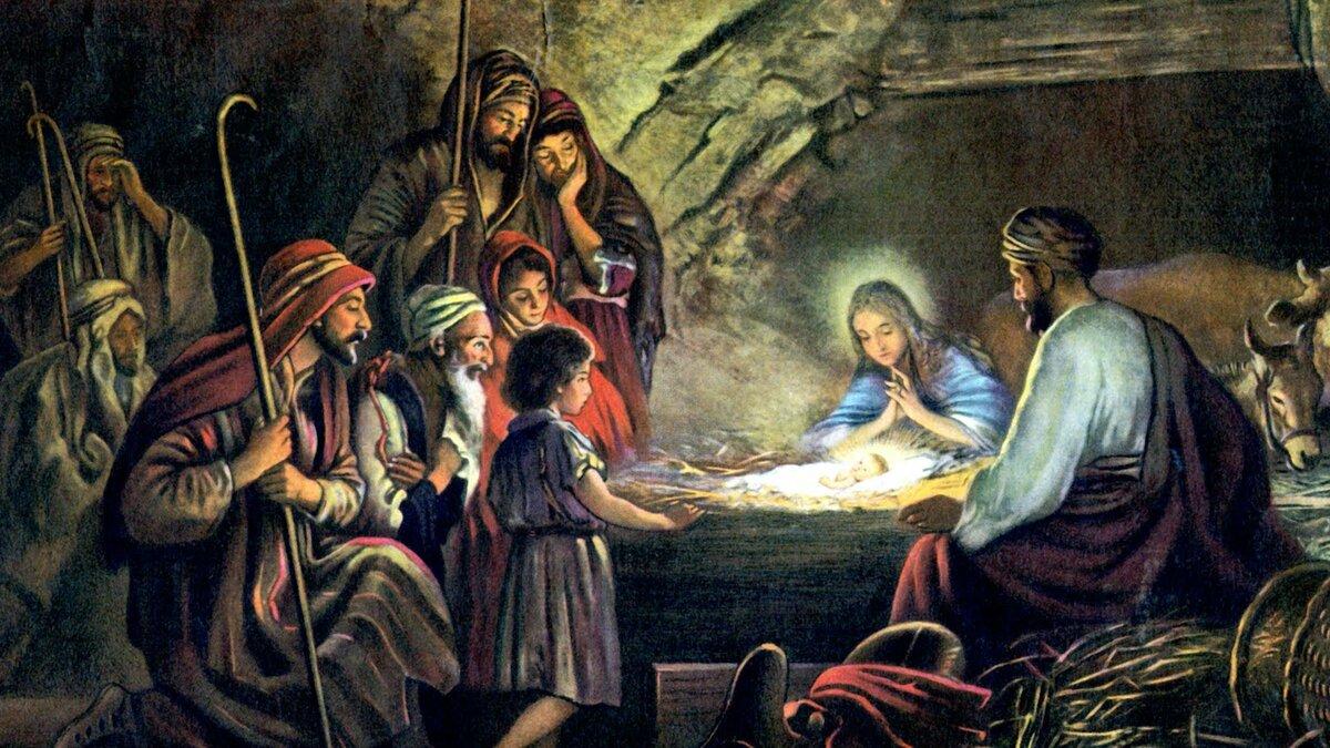 Рождество в картинках христианское